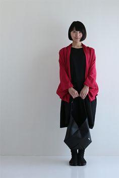 Rectangle One piece dress Black Muslin Wool $138.00 #sousousf #fashion