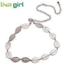 >> Click to Buy << 2017 Stylish Fashionable Women Metal Leaves Belts Belly Chain Jewelry Infinity Belts Women Belt Dress Adornment Elastic Ja19 #Affiliate