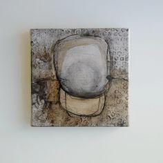 Fine Art abstrait peinture-pierres-peinture originale sur toile/charcoal/encre wask/couleur/aquarelle/nature par Cristina Ripper