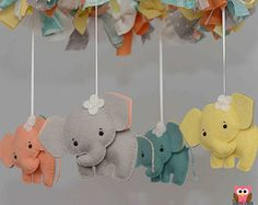 Elefanten Baby-Mobile Mobile Custom Mobile von TayloredWhimsy