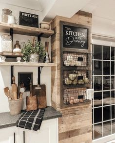 We LOVE these cute farmhouse baskets for the kitchen! Wh… – Home Decor On A Budget Kitchen On A Budget, Kitchen Redo, Home Decor Kitchen, New Kitchen, Home Kitchens, Kitchen Remodel, Kitchen Design, Kitchen Ideas, Kitchen Storage