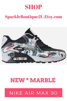 f2ff483ebe45 Swarovski Nike Air Max 90 Custom Sneakers by SparkleBoutique2U