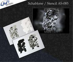 Step By Step Airbrush Stencil As-085 ~ Stencils ~ Umr-Design