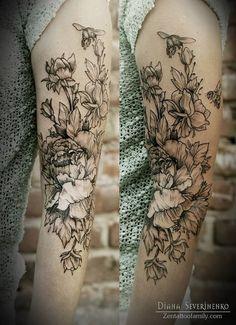 Sleeve Tattoo byDiana Severinenko