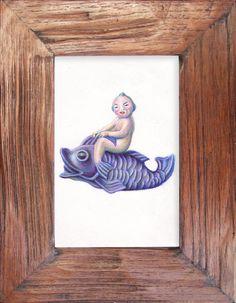 ebay series Aquarium Ornament III  original by charleydarbo, $75.00