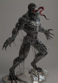 Venom by on DeviantArt All Marvel Heroes, Marvel Characters, Marvel Avengers, Predator Action Figures, Custom Action Figures, Character Art, Character Design, Marvel Venom, Marvel Comic Universe