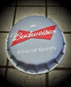 Budweiser bottle cap cake :)