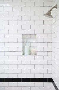 So drawn to subway tile and dark grout -- is this just that I like hotels?