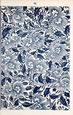 Chinese Ornament 005 Digital Paper - Chinese Digital Sheet - Vintage illustration 1867 IDEA - make own fabric Motifs Textiles, Textile Patterns, Print Patterns, Floral Patterns, Blue Patterns, Chinese Culture, Chinese Art, Chinese Prints, Chinese Painting
