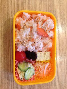 "today's bento ""salmon rice"""