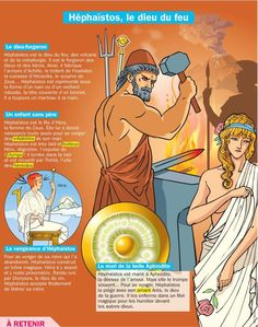 Educational infographic : Fiche exposés : Héphaïstos le dieu du feu Greek Mythology Gods, Flags Europe, Roman Gods, French Phrases, French Class, Mystery Of History, French Language Learning, Learn French, Ancient Civilizations