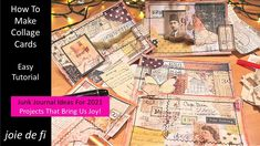 How To Make Collage Cards 🌟 New Collage Ideas 💕 Easy Tutorial Scrapbook Journal, Journal Cards, Junk Journal, Journal Ideas, Collage Design, Collage Ideas, Diy Playing Cards, Glue Book, Collage Making