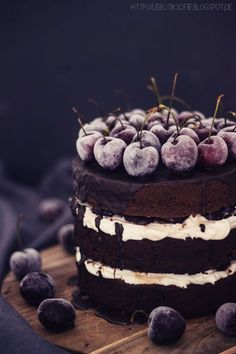 black forest cherry cake.