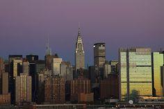 Horizonte, Ciudad, Manhattan, Nuevo, York, Chrysler