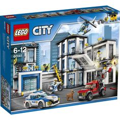 LEGO City Police Station and thousands more of the very best toys at Fat Brain Toys. Build a police station featuring jail cells, offices, a watch tower, and a garage! It's just another quiet day at the LEGO City Police Statio. Lego Polizeistation, Legos, Buy Lego, Lego Batman, Lego City Police Station, Lego Police, Police Police, Lego Space Station, Police Party