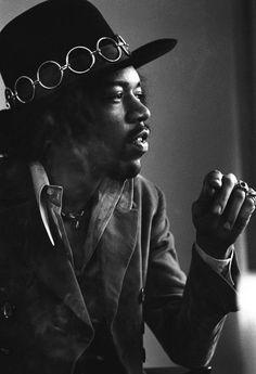 Jimi Hendrix, 1968  (By Baron Wolman)
