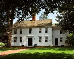 The Loomis Homestead in Windsor, Connecticut, is one of the oldest timber-frame houses in America. The oldest part of the house was built in 1640 by Joseph Loomis who came to America from England in 1638.