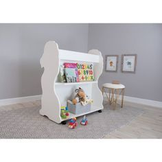 Ace Baby Furniture Lion Mobile Double-Sided Bookcase - MBLWT1039