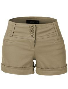 These medium rise fitted shorts with pockets are a must have for this season! These shorts provide a medium rise fit with moderate stretch; perfect if you are always on the go. Complete the look with Knit Shorts, Cute Shorts, Casual Shorts, Khaki Shorts Outfit, Women's Shorts, Sailor Shorts, Shorts With Pockets, Pocket Shorts, 80s Style