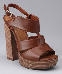 Take a look at this Luggage Teardrop Sandal by Best Foot Forward: Women's Shoes on #zulily today!