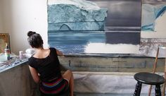 Perspective: Artist Zaria Forman Shares the Inspiration behind Her Large-Scale Pastel Waves and Icebergs