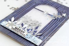 by Jowilna Nolte I long for a white Christmas again, but in the meantime I am creating some beautiful snow themed projects using the exquisite new Delicata Sapphire Blue ink. I love how the blue an…
