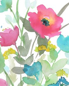 Watercolor Poppy watercolor floral floral decor by danawyattdesign
