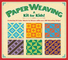 Paper Weaving: Kit for Kids! Diy Paper, Paper Art, Paper Crafts, Bead Loom Patterns, Weaving Patterns, Weaving For Kids, Paper Weaving, Handbag Patterns, Childrens Gifts