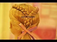 Outstanding Doll Hairstyle Flower Braid Side Ponytail Americangirlfan Hairstyles For Men Maxibearus