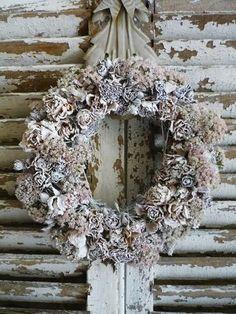 **pine cones sprayed white.....lovely