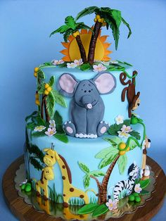 Jungle cake - love the efalent!!