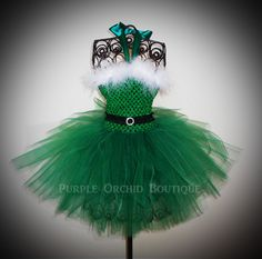 newborn tutus | Santa Baby Christmas Tutu Dress in Kelly by PurpleOrchidBoutique add small feather boa cut to fit for top of sweetheart neckline for modesty and bit mroe bling