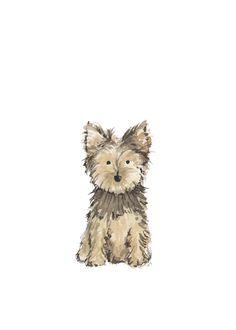 Yorkie Print — Marry Me in Spring Watercolor Paintings Abstract, Watercolor Bird, Watercolor Portraits, Watercolor Landscape, Indian Paintings, Animal Paintings, Yorkie, Chihuahua, Christmas Sketch