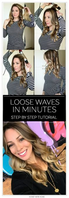 How to curl your hair for loose waves!! #curlingwand #hairgoals