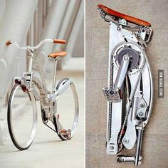 Spokeless fold-up bicycle. Need this! Bike thievery is such a problem in my hometown...