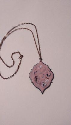 Necklace Pendant Vintage Enamel Multicolor Art by EmbracetheEarth, $55.00