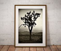 Joshua Tree Print Black and White Photo Bohemian Decor California Poster Cactus Gifts For Her Man Cave Art Office Print Xmas Gifts Desert Photography, Art Photography, Neon Sign Art, Man Cave Art, Man Caves, Cactus Gifts, Office Prints, Bar Art, Tree Illustration