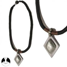 Black Grey Gris Combination Necklace Long Necklace