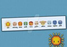 Mini People - Little Solar System cross stitch by cloudsfactory