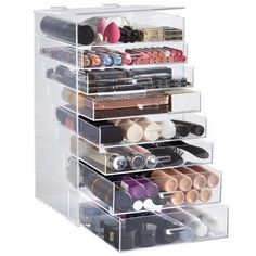 8 Tier Makeup Organizer provides all the room you need for cosmetic storage