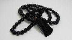 Ready to ship mala - 8mm black onyx 108 beads buddhist mala - prayer necklace…