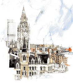 Manchester Town Hall, Manchester, UK  by Simone Ridyard
