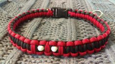 Deadpool Fandom-Inspired Paracord Dog Collar by LittleWolfParacord