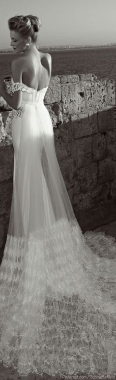 Seriously beautiful dress. Want to do get remarried to the mr just to wear this!              Karol would look lovely in this