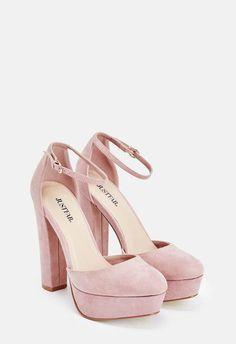 Pin by High Fashion Designer Heels on Platform high heels in 2019 Pink High Heels, Ankle Strap High Heels, Platform High Heels, High Heel Pumps, Pumps Heels, Pink Pumps, Suede Pumps, Ankle Straps, Blush Heels