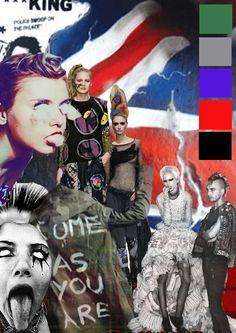 One of my moodboards for my punk project