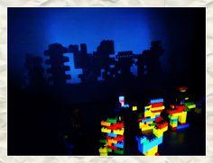 Shadows of Lego buildings