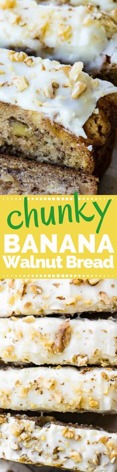 than Starbucks Chunky Banana Walnut Bread BETTER THAN STARBUCKS Banana Walnut Bread ~ skip the coffee shop and make your own divine banana walnut loaf! Just Desserts, Delicious Desserts, Dessert Recipes, Yummy Food, Muffins, Cupcake Cakes, Cupcakes, Banana Walnut Bread, Snacks Saludables