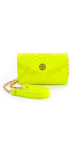 neon snake cross body bag / tory burch
