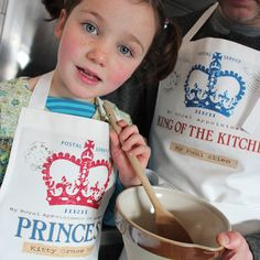 I might be biased but I do think she is the cutest model on Not on The High Street! Personalised children's aprons, more designs very soon from www.lovehart.co.uk